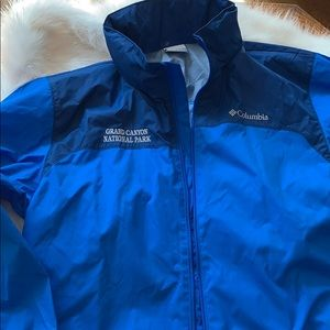 New COLUMBIA Sport Jacket Packable Waterproof BLUE